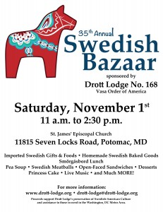 35th Annual Swedish Bazaar @ St. James' Episcopal Church Parish Hall | Potomac | Maryland | United States
