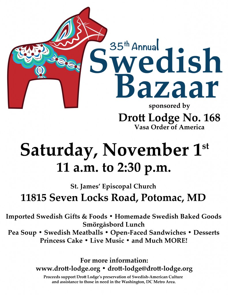 2014 Swedish Bazaar Flyer