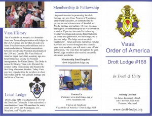 Drott Lodge Membership Brochure (Side 1)